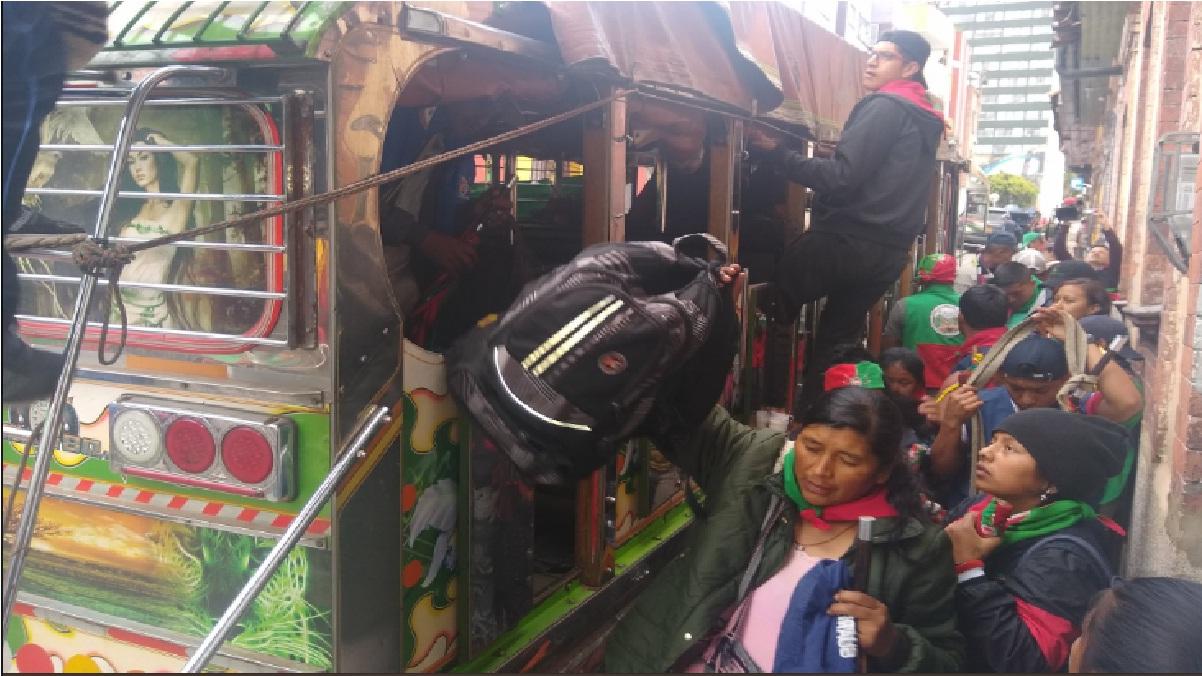 Indígenas del Cauca llegan a Bogotá para sumarse a movilizaciones por paro nacional