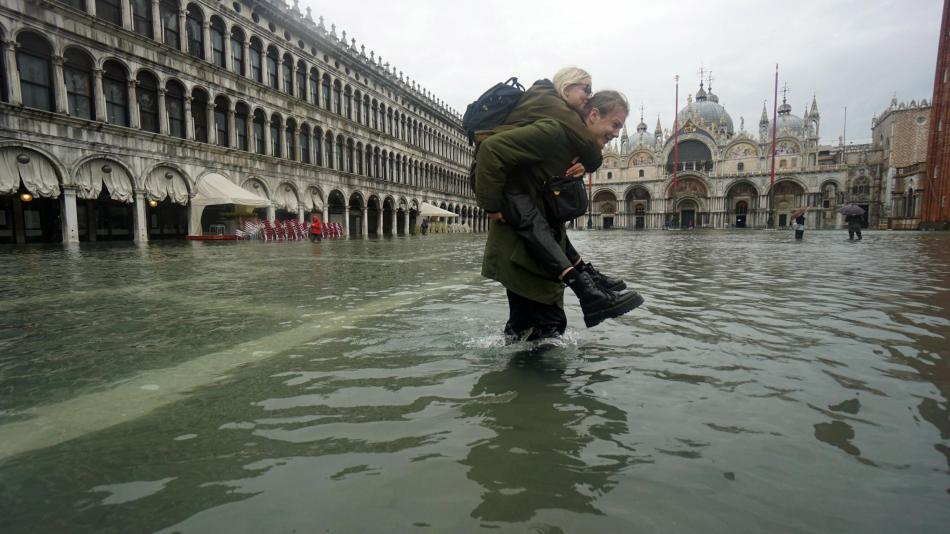 El «acqua alta» amenaza con desaparecer Venecia del mapa