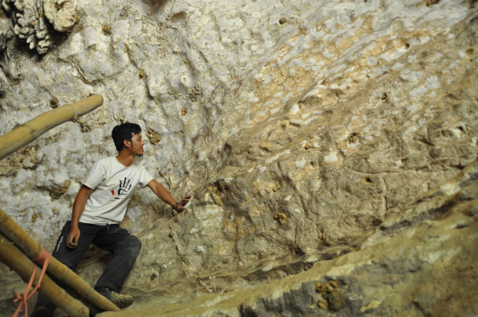 Esta podría ser la pintura rupestre más antigua de la humanidad