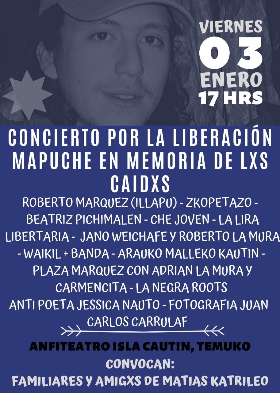 A 12 años del asesinato de Matías Catrileo, familia realiza Concierto por la Liberación Mapuche
