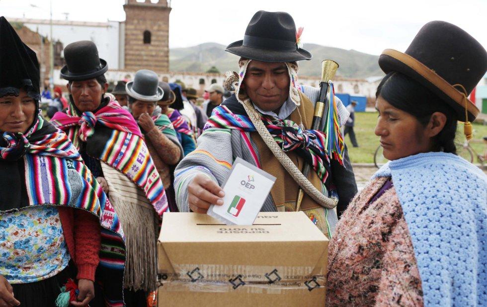 David Choquehuanca  y Andrónico Rodríguez binomio del MAS en Bolivia