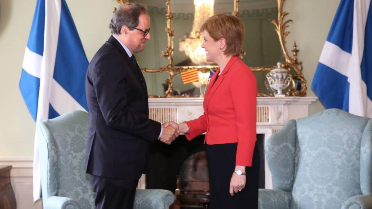 Quim Torra alaba a independentistas escoceses por sus resultados electorales