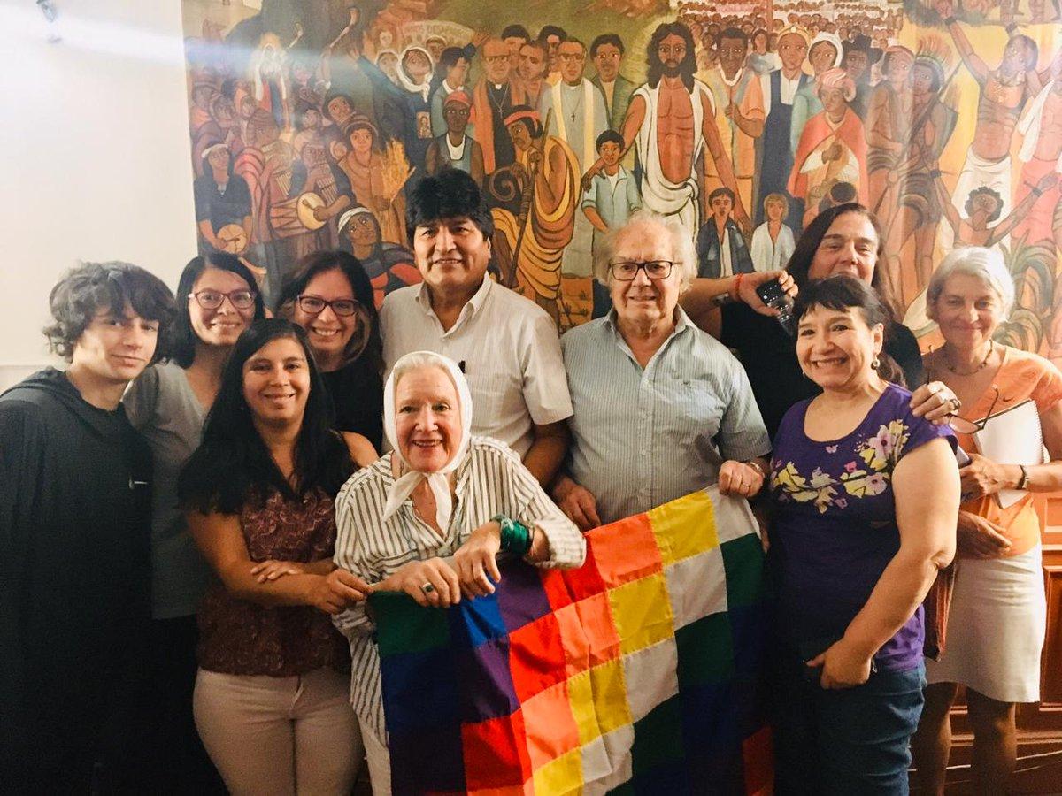 Evo Morales se reunió con Adolfo Pérez Esquivel, Premio Nobel de la Paz