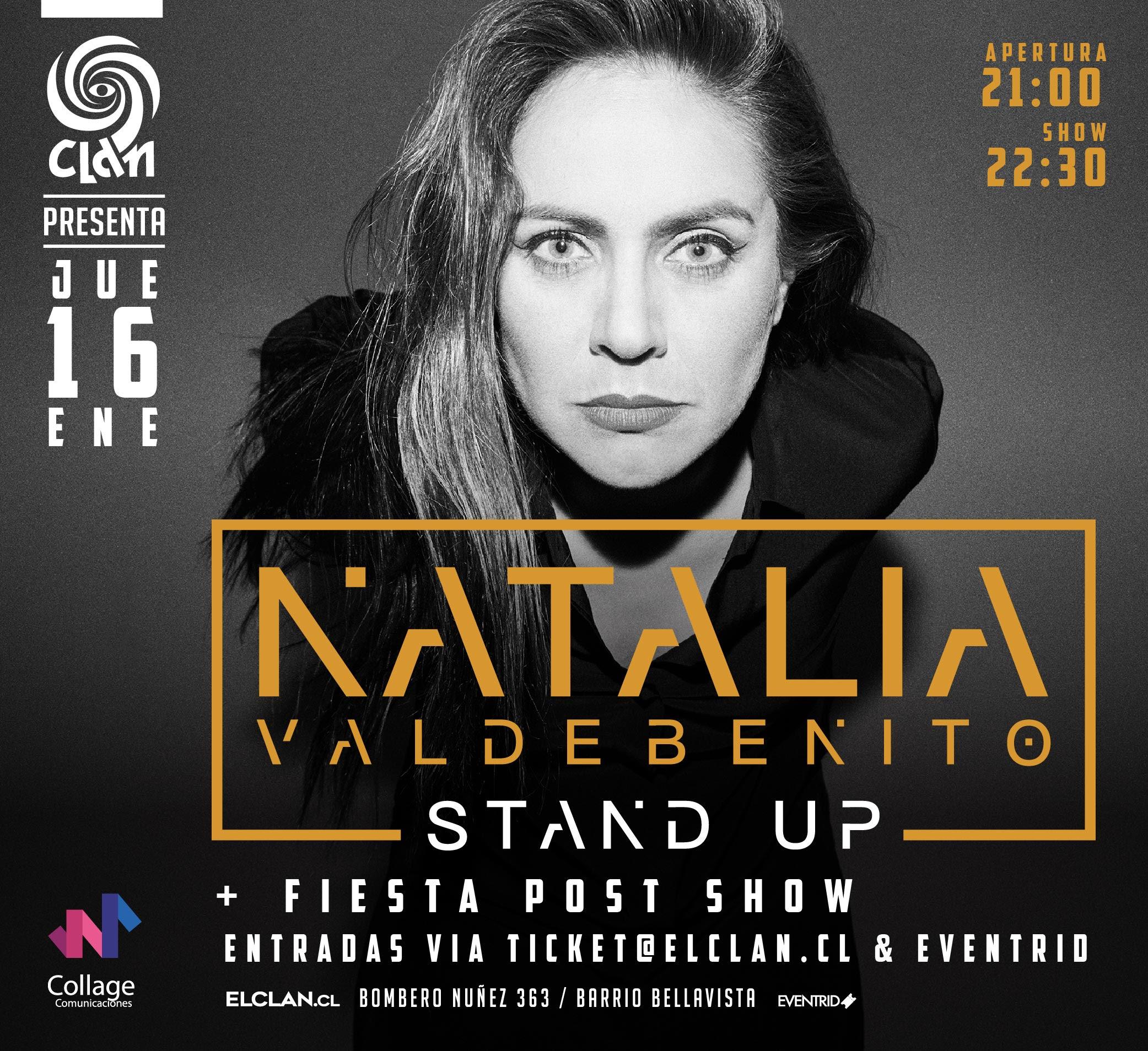 Natalia Valdebenito regresa a Bar El Clan con íntima presentación de Stand Up