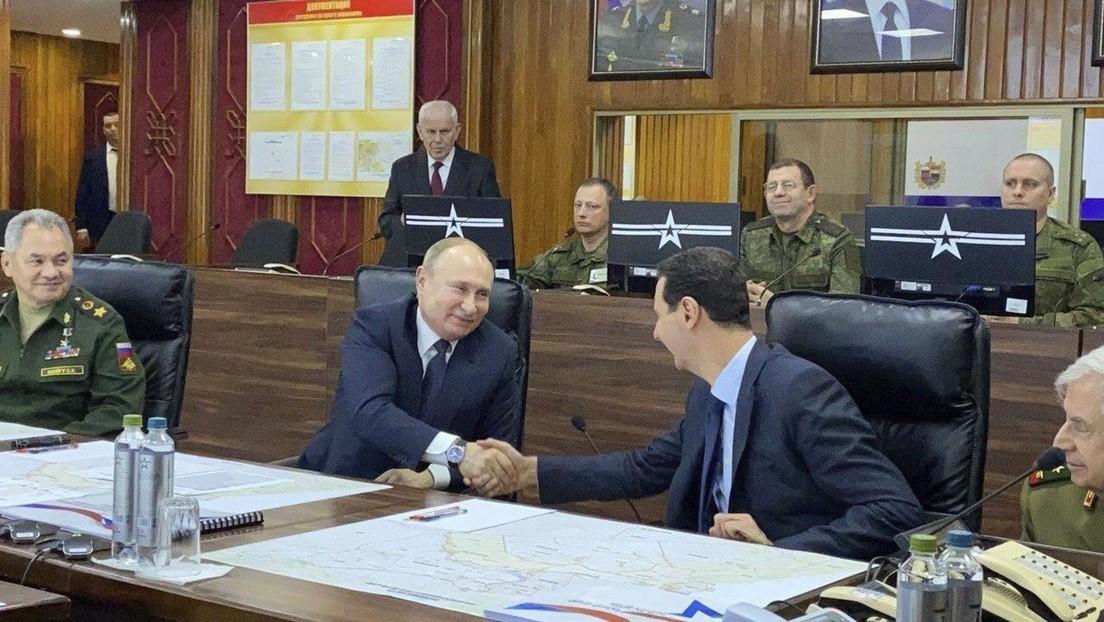"""Putin llega a Damasco y se encuentra con Al Assad: """"Se ven señales claras del restablecimiento de la paz"""""""