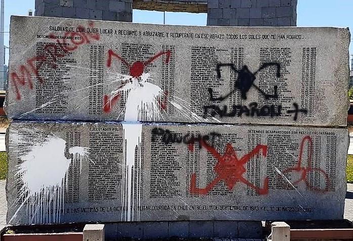 Denuncian ataques a sitios de memoria en Concepción, La Serena, Santiago y Pichoy
