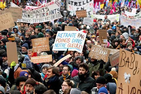 Sindicatos franceses convocan a nueva jornada de protestas para rechazar la reforma de pensiones