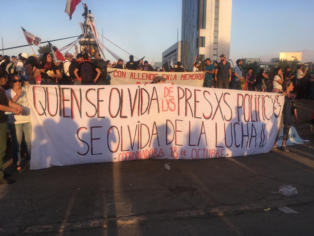 Diversas actividades se realizarán esta semana en solidaridad con los presos de la revuelta