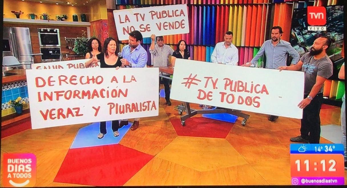 Organizaciones ciudadanas y sindicato piden renuncia del directorio de TVN y demandan «rol activo» en proceso constituyente