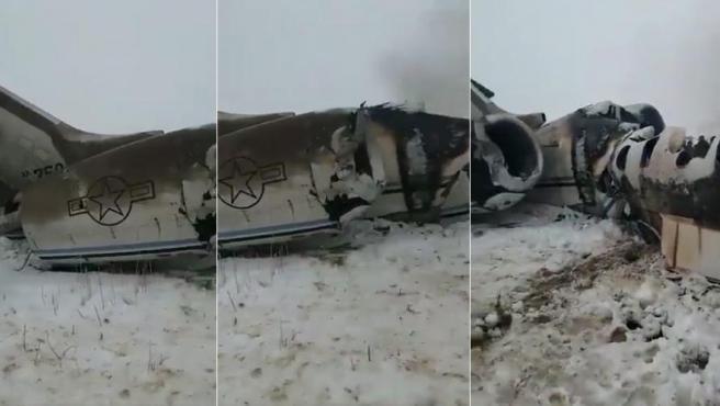 Grupo Talibán se atribuye derribo de avión estadounidense en Afganistán