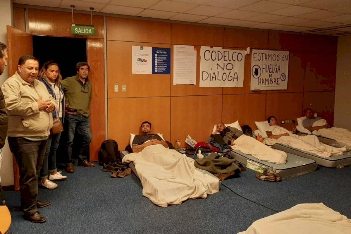Dirigentes de Chuquicamata cumplen 4 días en huelga de hambre