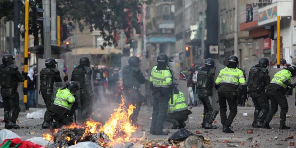 """ONU llama a Colombia a """"una profunda transformación"""" de la policía antidisturbios"""