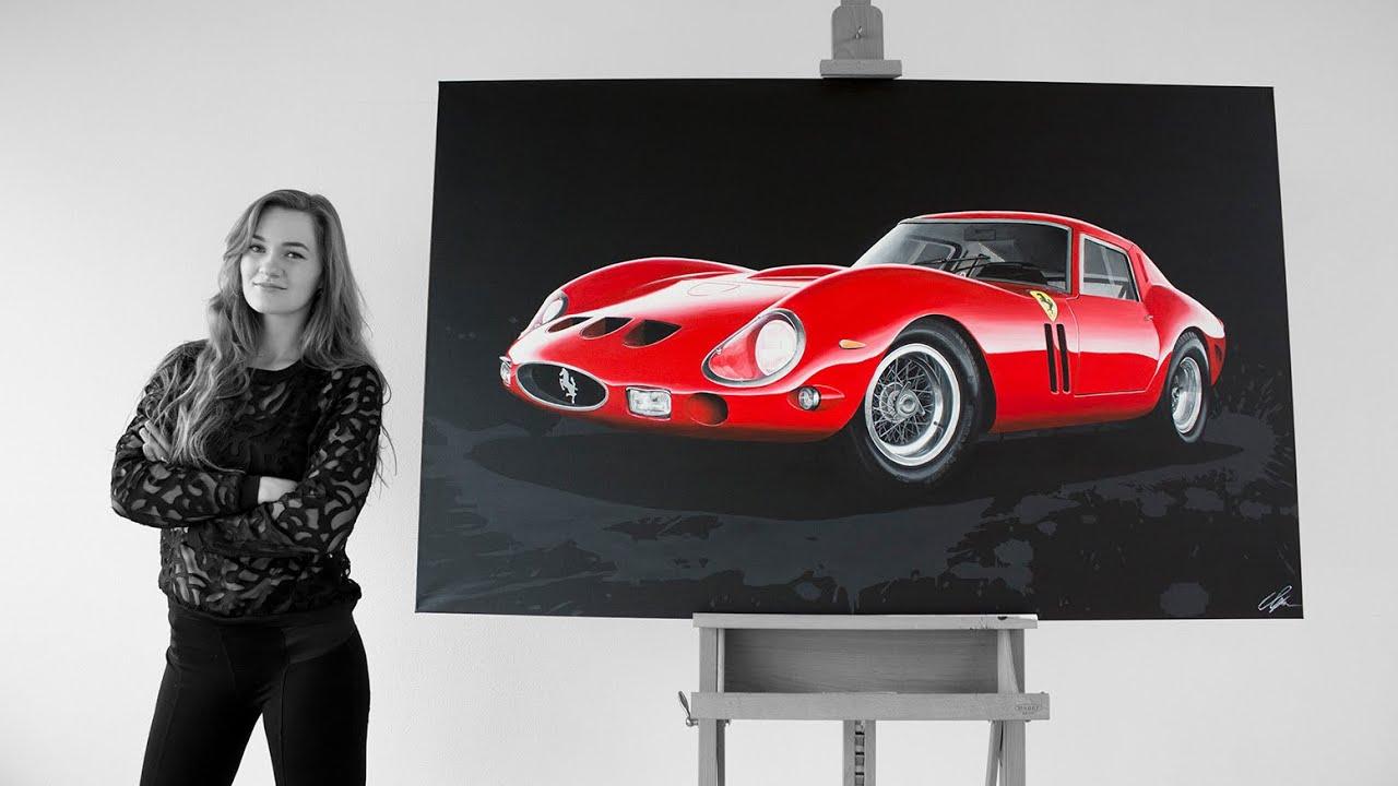 Pintora de los Países Bajos sorprende al mundo automotriz con sus pinturas hiperrealistas