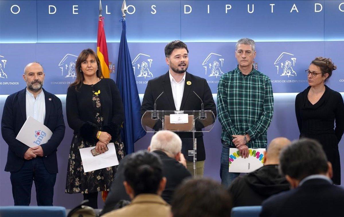 Los partidos independentistas españoles rechazan al rey y a la monarquía