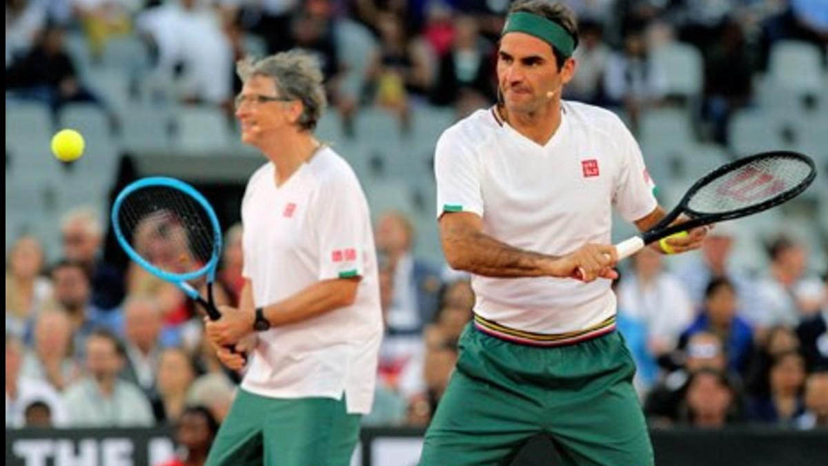 'The Match in Africa' juego épico entre Federer, Nadal, Gates y Noah