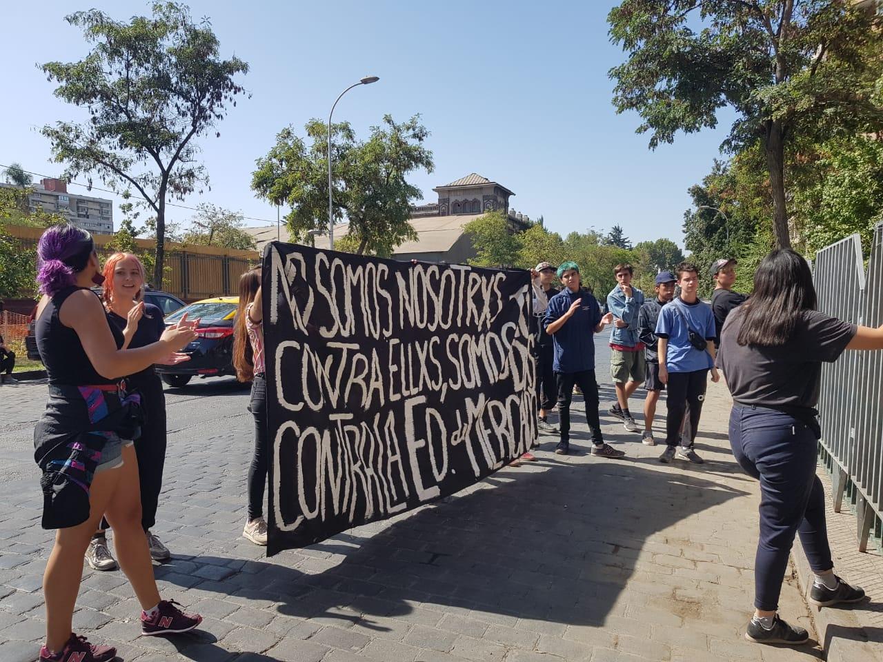 Última PSU: Liceo Darío Salas fue el punto de manifestaciones