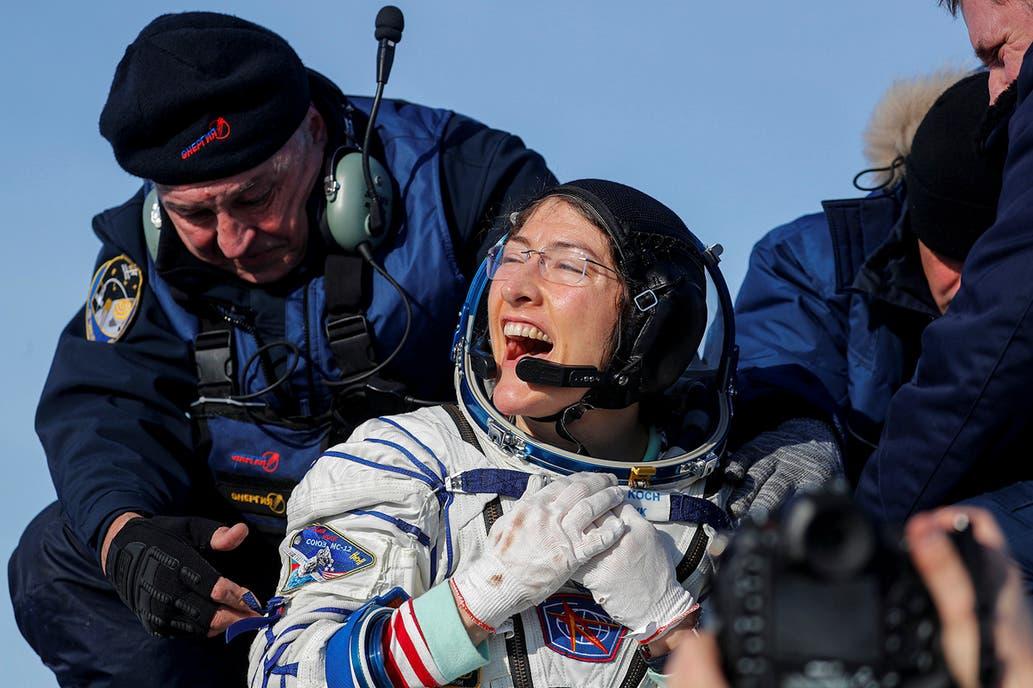 Las astronauta Christina Koch realizó el vuelo espacial más largo de la historia