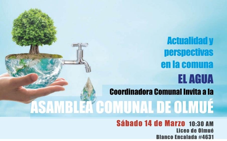 Coordinadora Comunal de Olmué invita a Asamblea del Agua