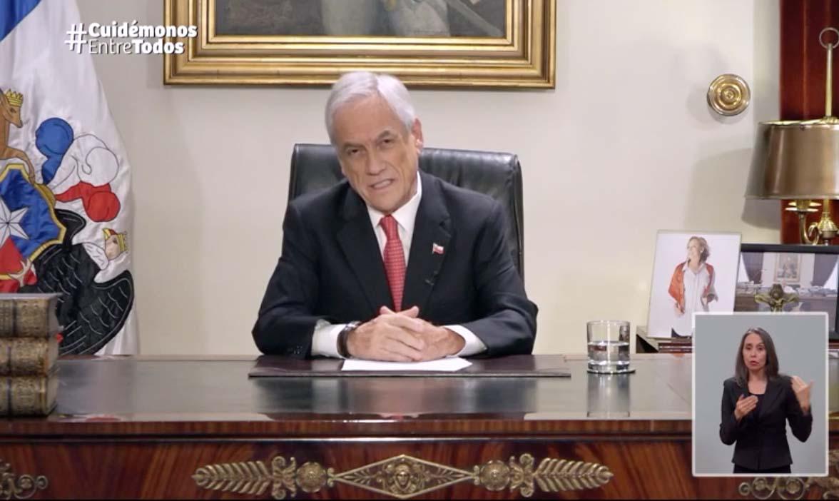 Las lapidarias críticas en redes sociales a la cadena nacional de Sebastián Piñera
