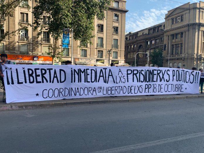 Coordinadora 18 de Octubre levanta campaña por la salud de los detenidos en la revuelta social