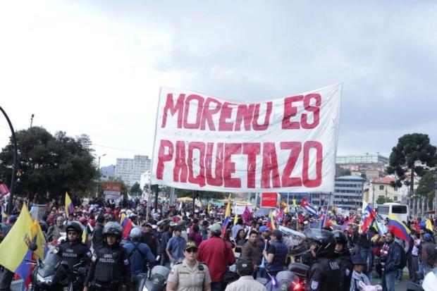 Ecuador: Denuncian que Moreno quiere usar la crisis para imponer receta del FMI