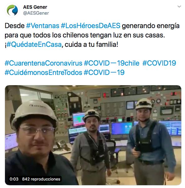 Los controvertidos mensajes de AES Gener destacando operación de sus termoeléctricas a carbón en Puchuncaví, Huasco y Mejillones