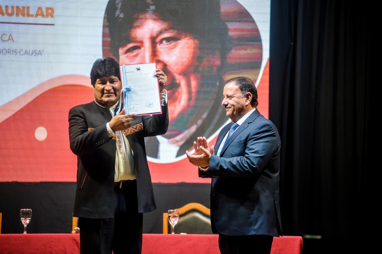 Evo Morales es considerado visitante ilustre