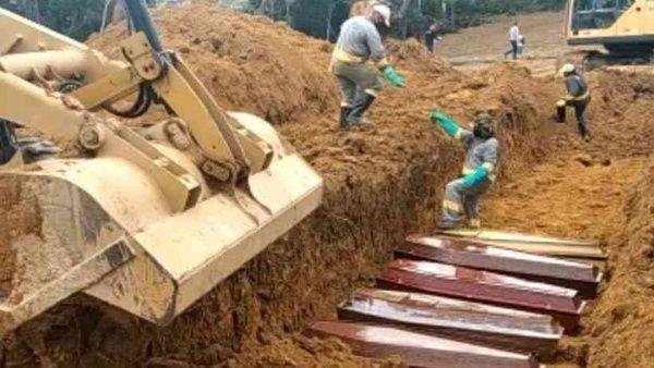 Colapso de sistema de salud en Brasil lleva a cavar fosas comunes en Manaos