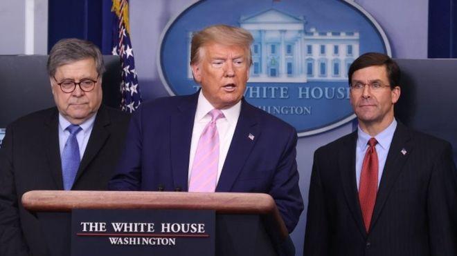 """Mientras el COVID-19 avanza, Trump lanza operación """"antidrogas"""" para """"proteger"""" a estadounidenses"""