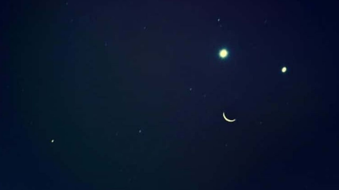 La Luna, Venus y Júpiter dibujarán una sonrisa en el espacio
