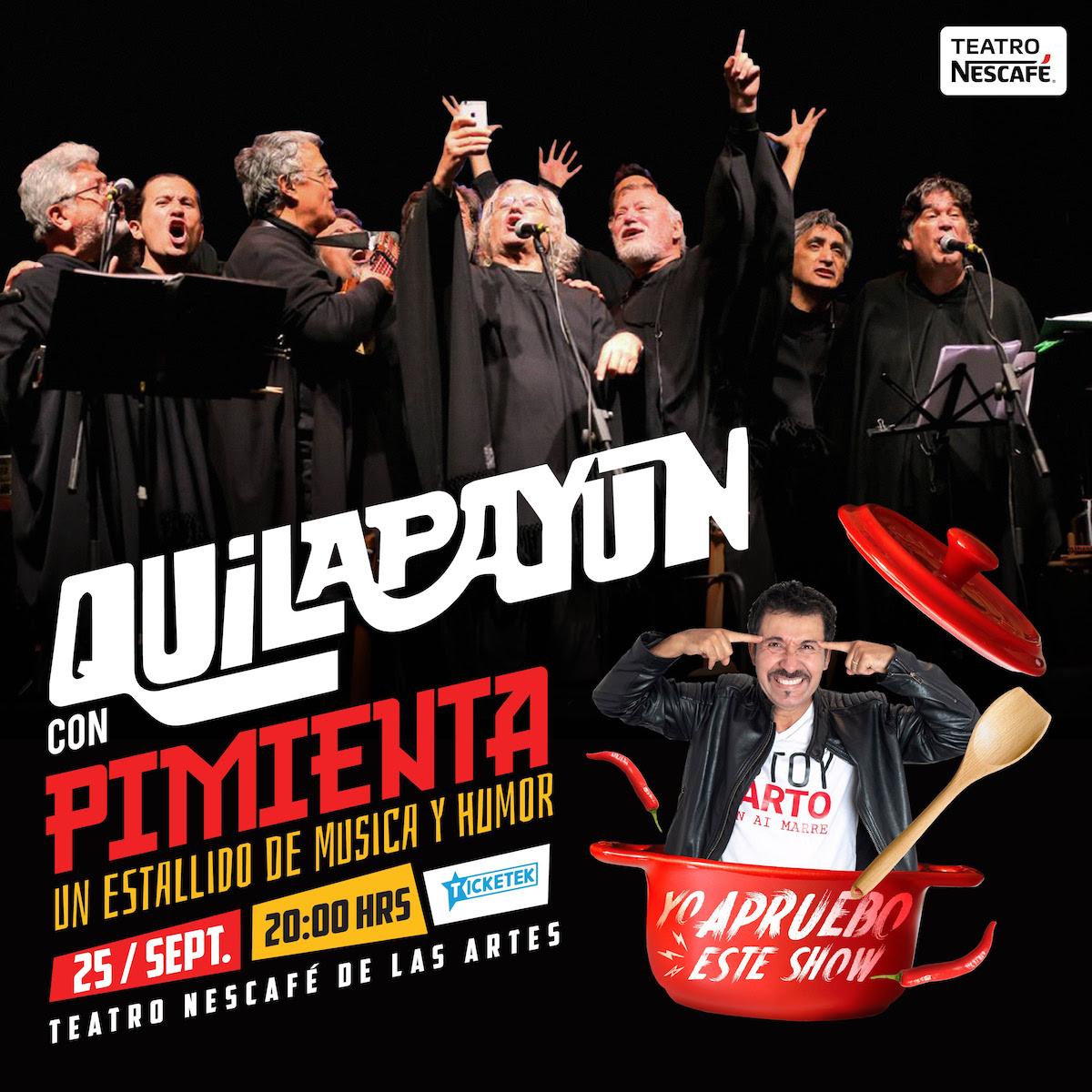 «Quilapayún con Pimienta»: el innovador espectáculo que une la música con el humor