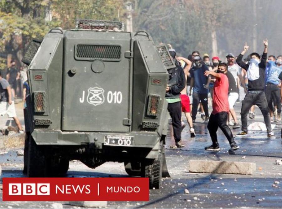 Disturbios en zonas vulnerables de Santiago de Chile, empobrecidas por la cuarentena