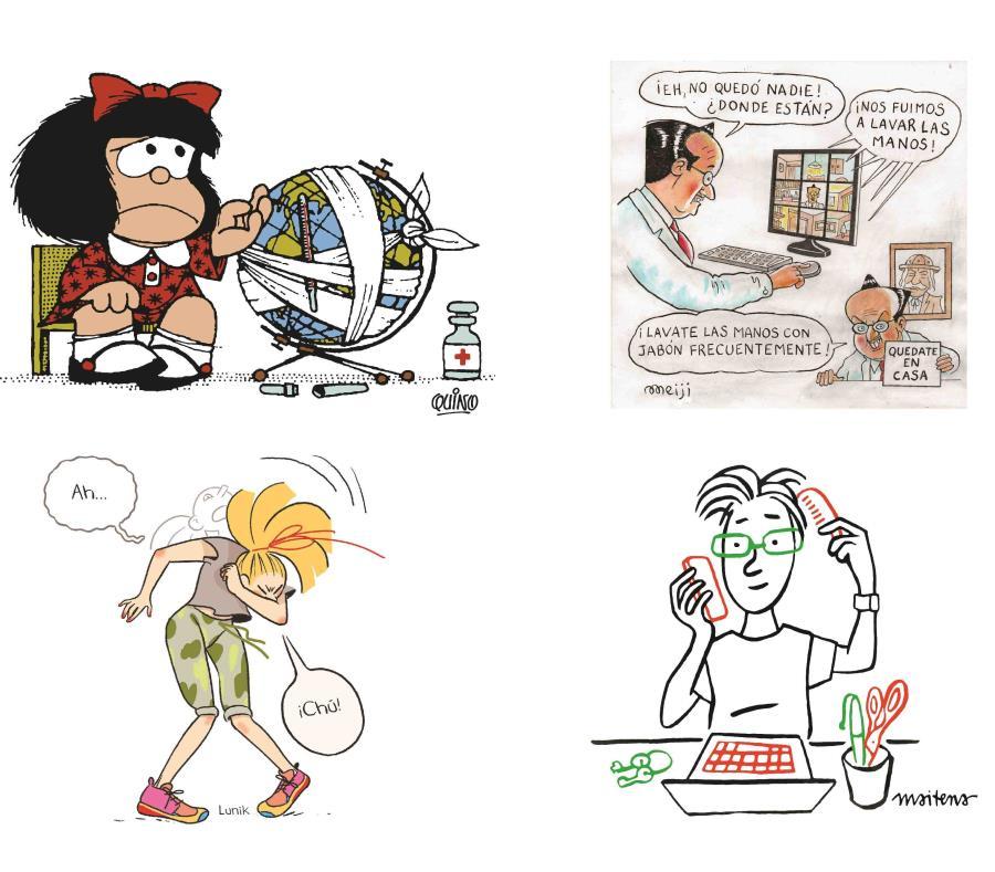 Reconocidos ilustradores se unieron en una campaña para difundir hábitos contra el coronavirus