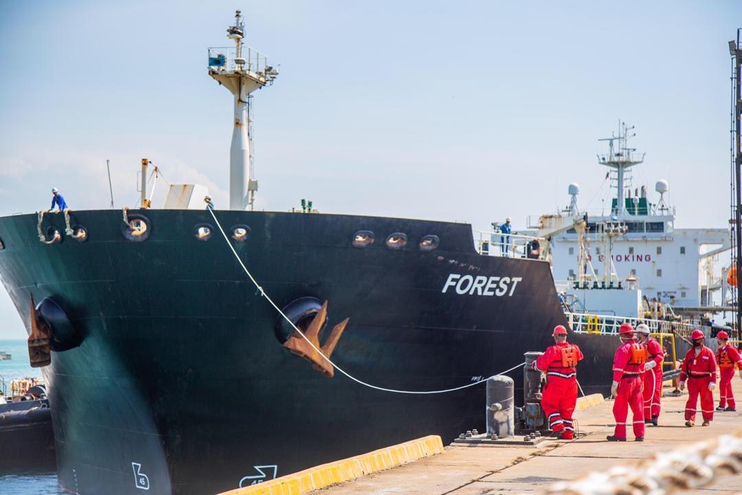 Petunia: el tercer buque iraní llega a aguas venezolanas con más combustible