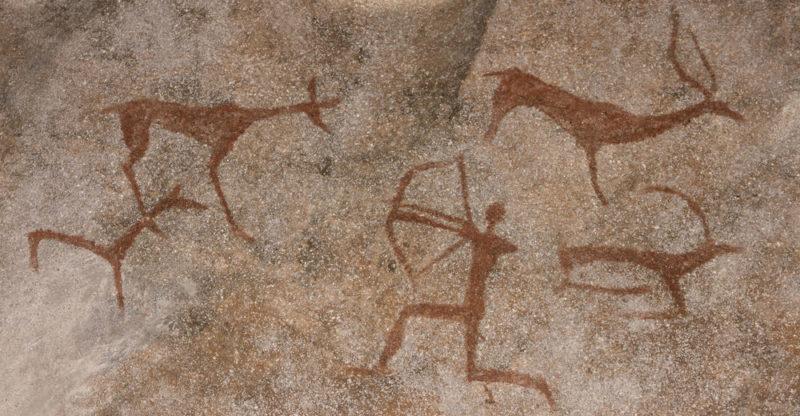 El arte rupestre se creó en Australia con plantillas de cera de abeja