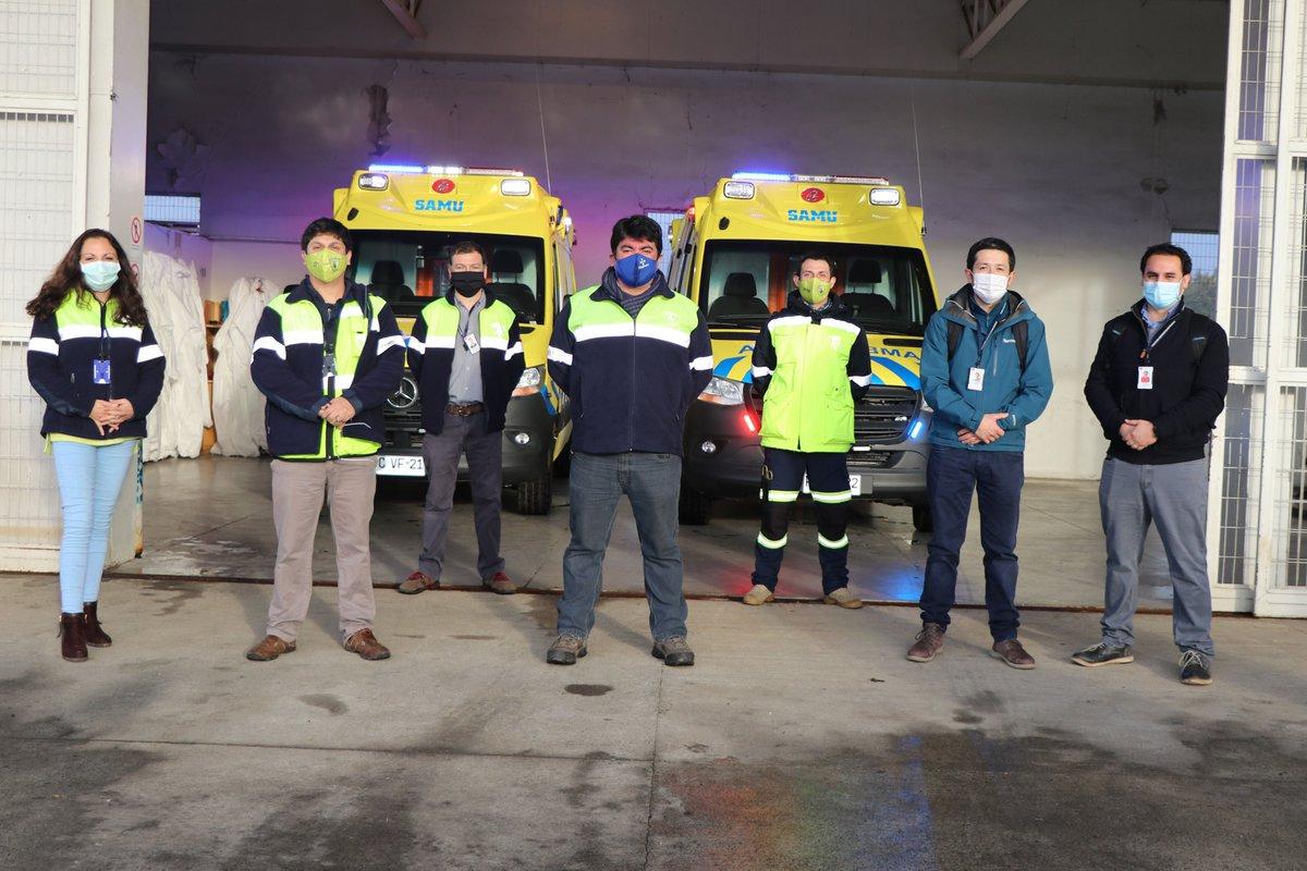 Osorno: SAMU recibió dos ambulancias de última generación