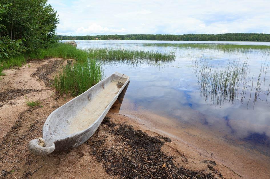 (+ Fotos) Niño encuentra un antiguo bote de troncos de la Edad de Piedra