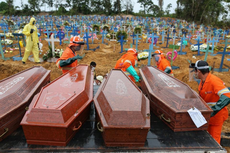 ¿Para ocultar el verdadero costo de la pandemia? Brasil elimina el número de muertos por Covid-19