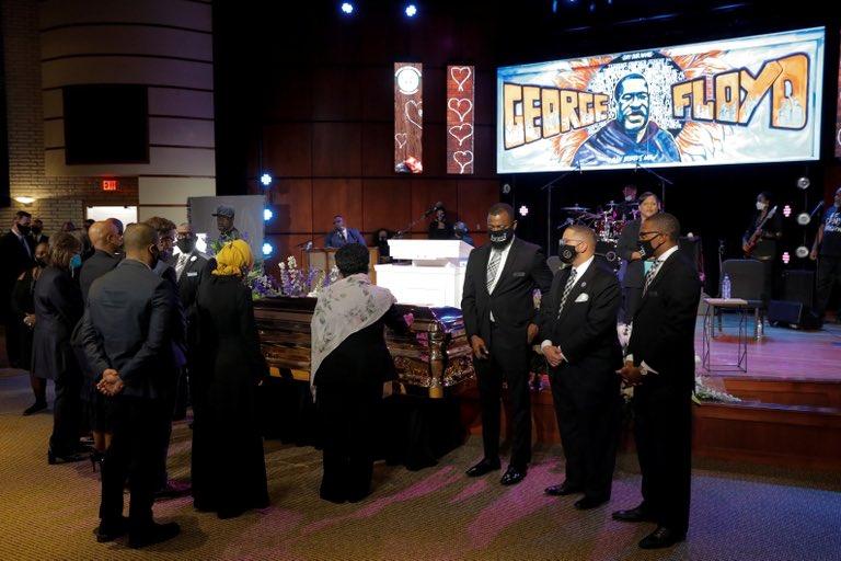 «Era un ser humano»: rinden tributo a George Floyd en el primero de sus tres funerales