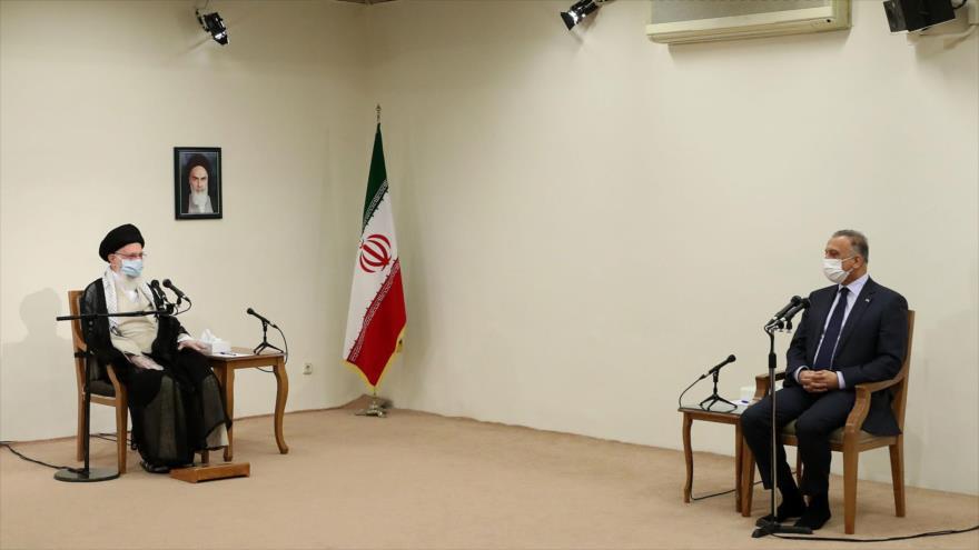 líder de Irán y representante iraquí