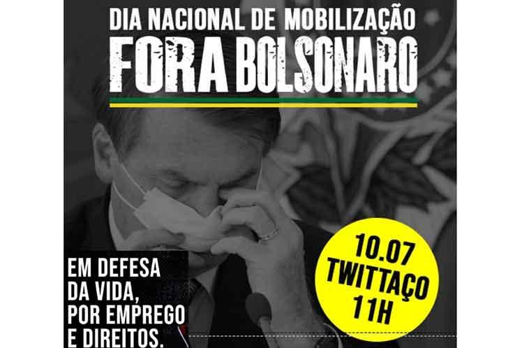 """Día Nacional de Movilización """"Fora Bolsonaro"""" se escucha este viernes en ciudades brasileñas"""