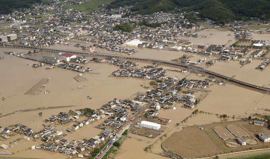 Japón: 1.3 millones de personas deben evacuar sus domicilios producto de las lluvias