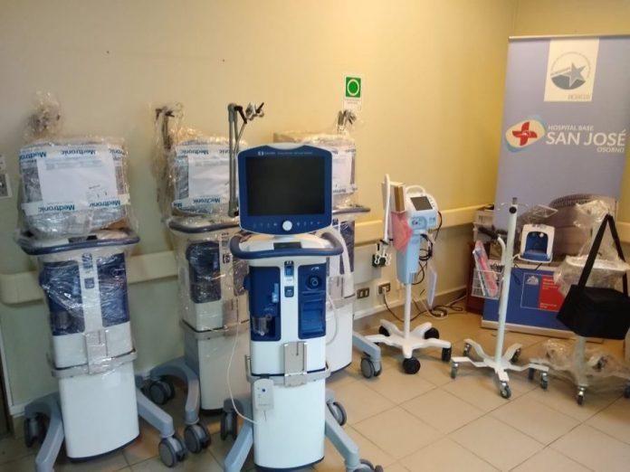 Osorno: recibieron cinco nuevos ventiladores mecánicos en el Hospital Base