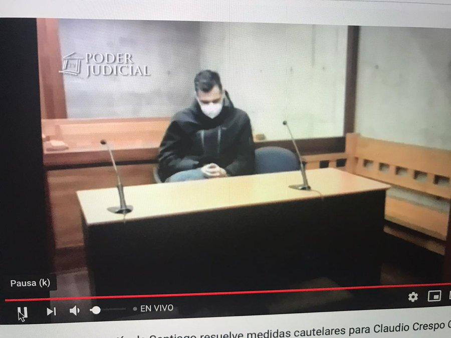 Juez desestima petición de la defensa y mantiene en prisión preventiva a ex oficial de Carabineros Claudio Crespo