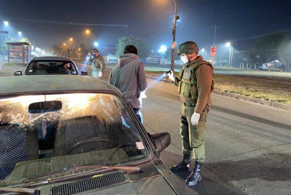 Ñuble: detenidas 18 personas por infringir el toque de queda
