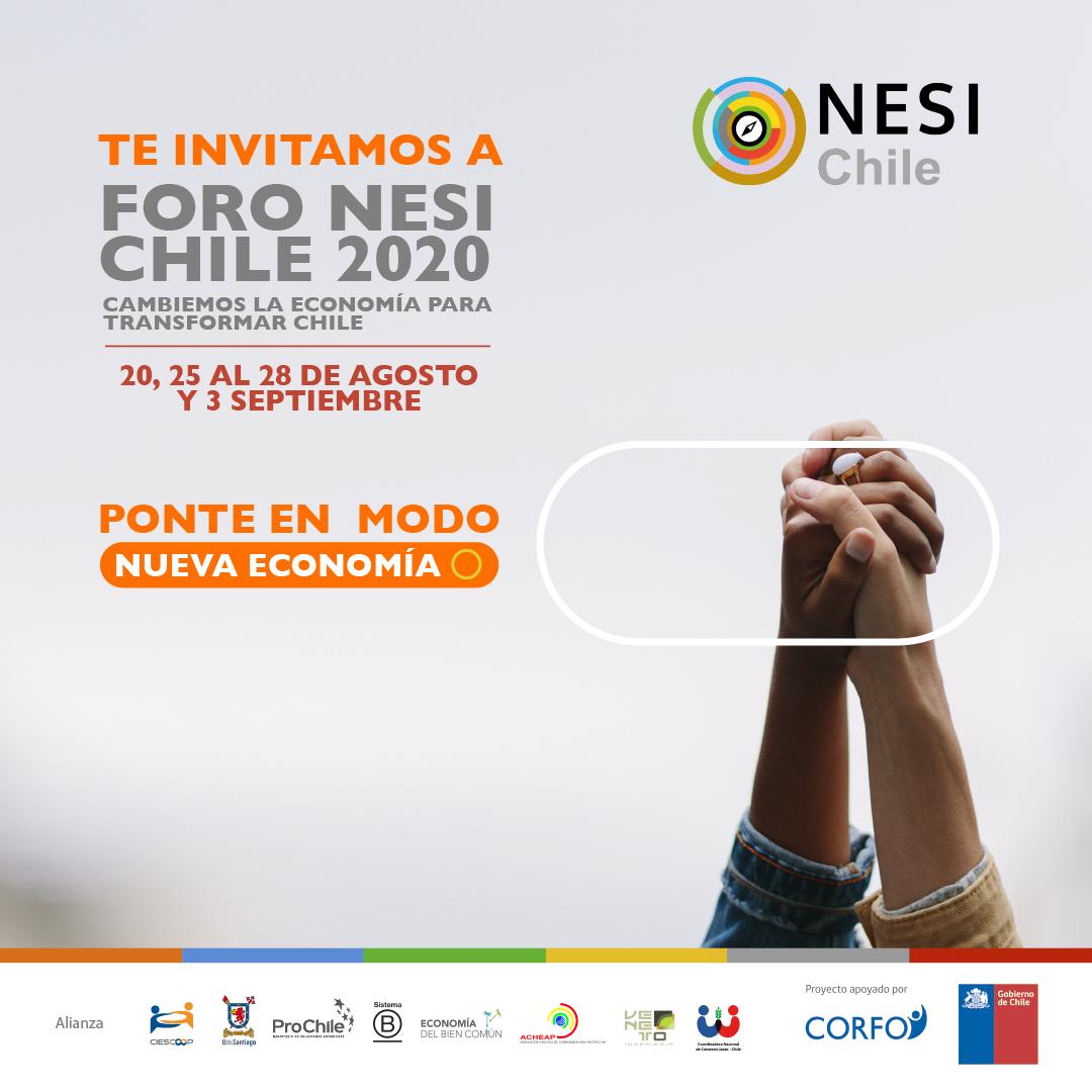 Foro NESI Chile 2020 llama a la ciudadanía a dialogar para construir un Chile más sostenible