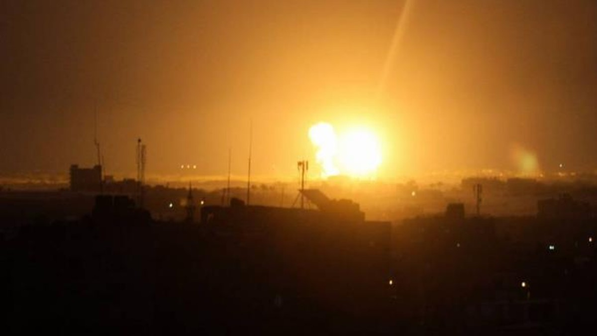 Régimen israelí bombardea posiciones de Hamás en la Franja de Gaza