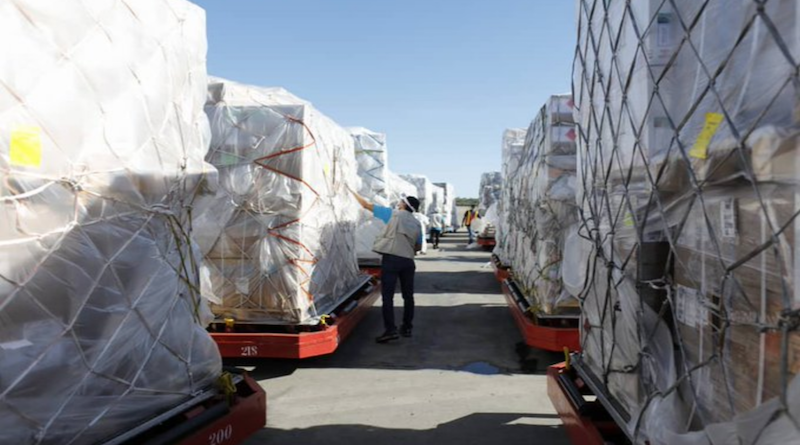 Llegan a Venezuela más de 70 toneladas de insumos médicos y material tecnológico para la lucha contra el COVID-19