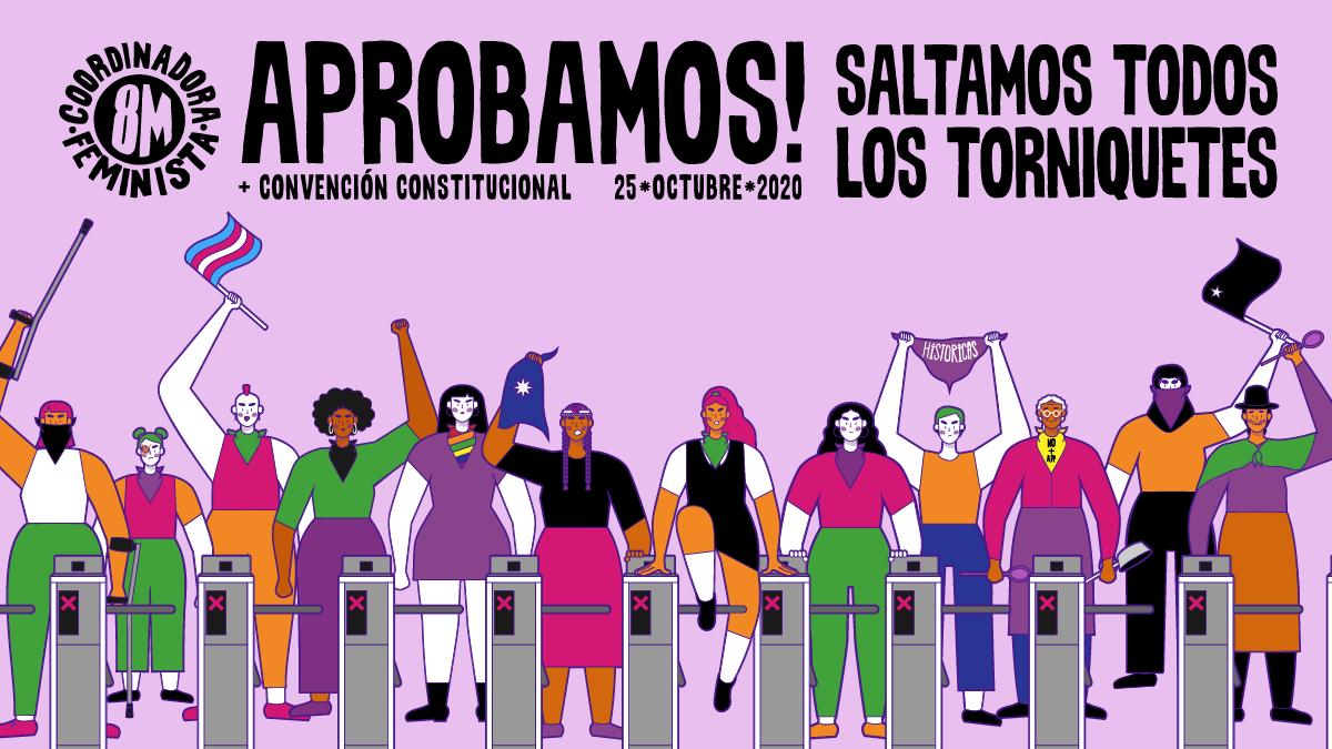 «A saltar todos los torniquetes»: Coordinadora Feminista 8M lanza video de campaña «Aprobamos Convención Constitucional»