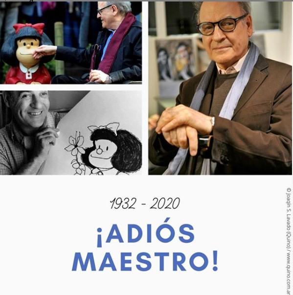 A los 88 años muere Quino, el creador de Mafalda